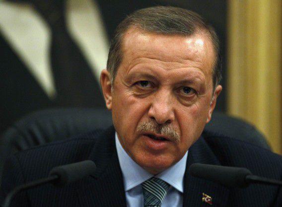Premier Tayyip Erdogan op een archieffoto.