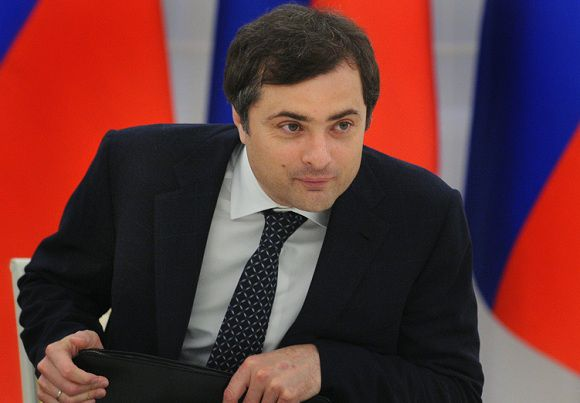 A picture taken in Moscow Kremlin on May 26, 2010, shows the first deputy head of the Kremlin administration Vladislav Surkov attending a meeting. Often described as the country's most powerful man after Putin and outgoing President Dmitry Medvedev, Surkov is the architect of Russia's political system where docile parliament rubber-stamps Kremlin-sponsored bills, protests are broken up by force and the opposition is kept off the air. AFP PHOTO / ALEXANDER NEMENOV