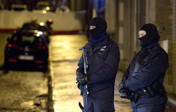 Rue de Colline in het Belgische Verviers waar donderdag een anti-terreuroperatie plaatsvond.