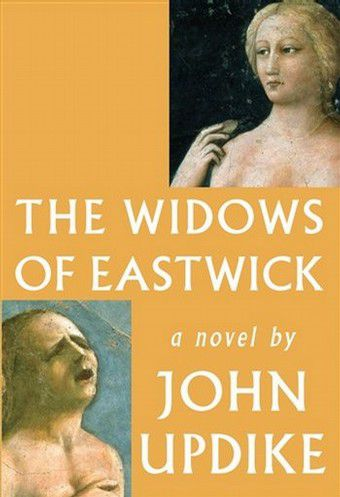 """John Updike: The Widows of Eastwick. Knopf, 308 blz. € 21,– This photo released by Alfred A. Knopf shows the cover of """"The Widows of Eastwick,"""" by John Updike. (AP Photo/Alfred A. Knopf) **NO SALES**"""