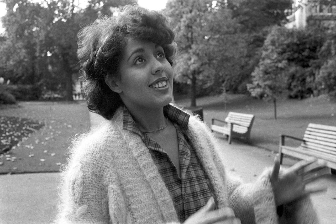 FILE - In this Oct. 29, 1979 file photo, British singer Poly Styrene, who fronted X-Ray Spex, is seen in London. Styrene, whose real name was Marion Elliott-Said, had been suffering from cancer and has died at the age of 53. (AP Photo/PA) UNITED KINGDOM OUT NO SALES NO ARCHIVE