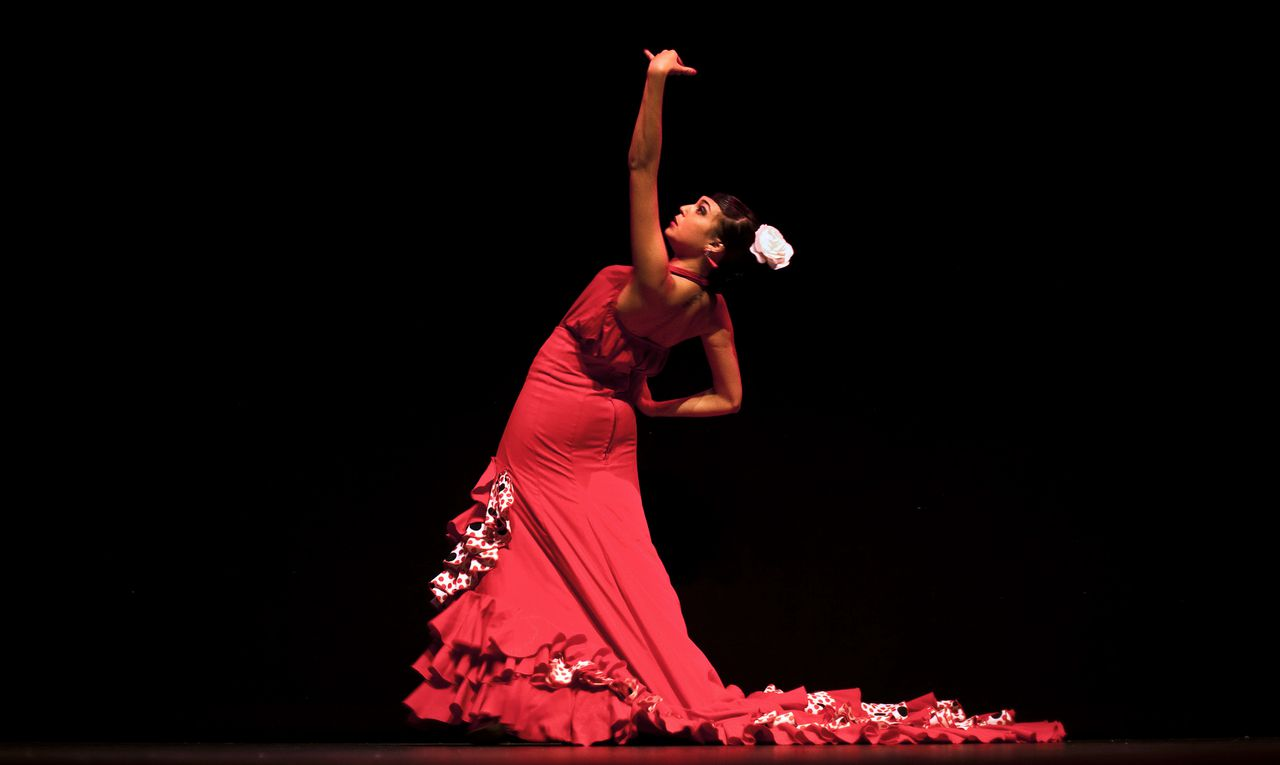 De wortels van de Spaanse flamenco in Podium. Ned. 2, 13.00u. In this photo taken on Friday, Nov. 12, 2010, flamenco dancer Andrea Fernandez performs at Palacio del Flamenco in Seville, Spain. Spain's flamenco dance is among 51 proposals to be considered for inclusion on two UNESCO intangible cultural heritage lists. The Paris-based U.N. organization said that Tuesday Nov. 16 meeting in Nairobi, Kenya, will determine which of the proposals make the final cut. Thirty-one countries on four continents fielded proposals. (AP Photo/Miguel Angel Morenatti)