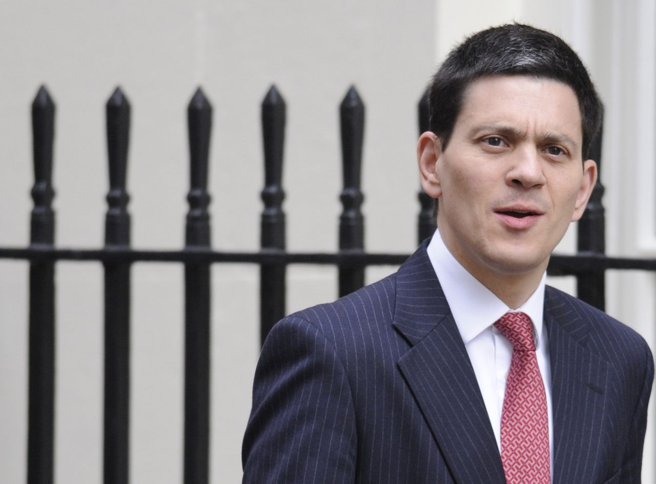 Britain's Foreign Secretary David Miliband arrives to attend a Budget cabinet meeting in Downing Street in central London March 24, 2010. Britain's Labour government looks set on Wednesday to use its last budget before an election that is just weeks away to cut borrowing in an effort to calm investors and voters nervous about a record budget deficit. REUTERS/Toby Melville (BRITAIN - Tags: BUSINESS POLITICS)