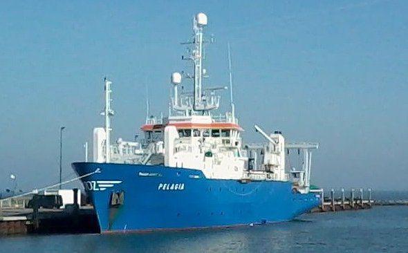Het onderzoeksschip de Pelagia.
