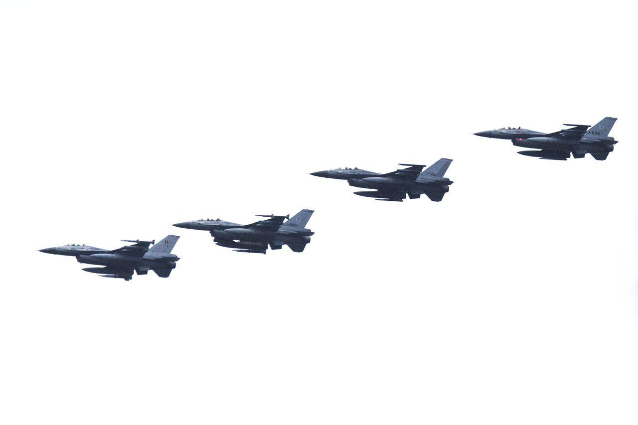 Voorbeeld van de Nederlandse F-16's die in Irak en Syrië worden ingezet in de strijd tegen IS.