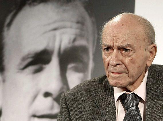De Spaanse voetballegende Alfredo di Stefano, op een foto uit 2010.