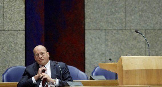 Staatssecretaris Fred Teeven (Veiligheid en Justitie, VVD) tijdens het asieldebat van vorige week.