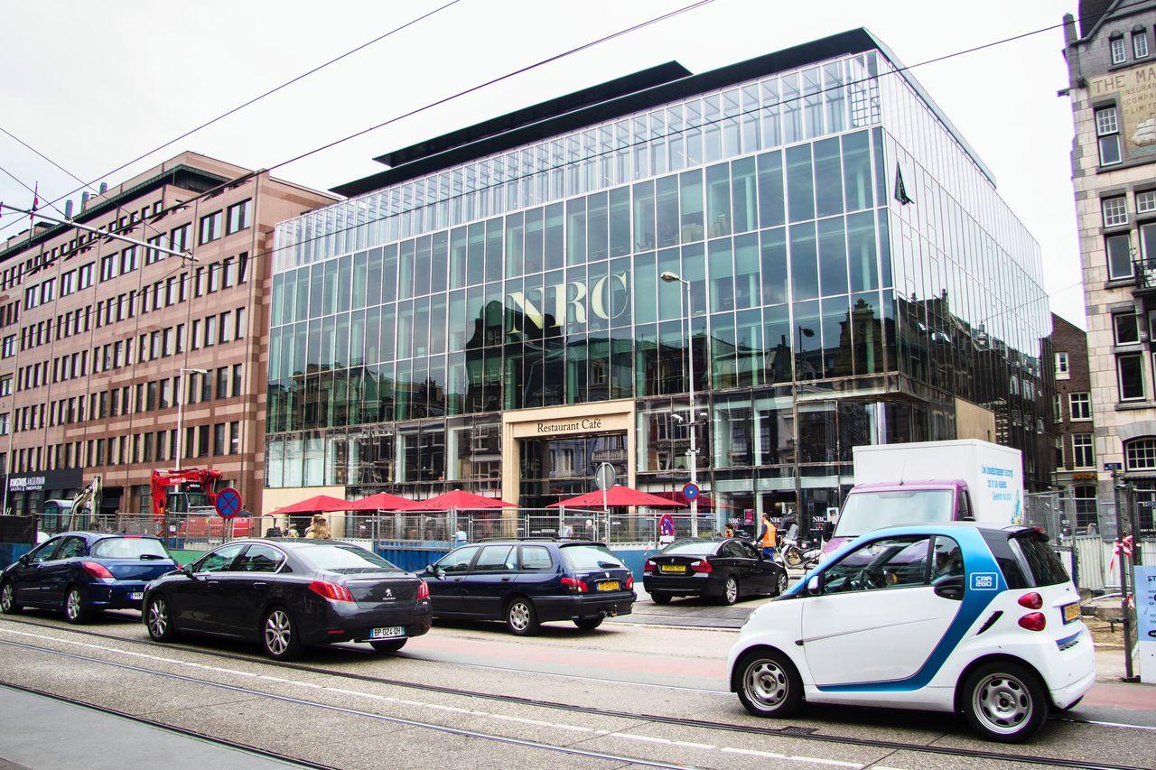 Voorgevel NRC-gebouw, aan het Rokin in Amsterdam.