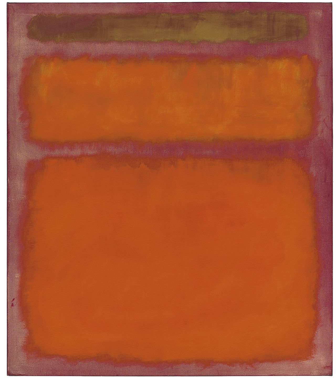 Mark Rothko's wereldberoemde olieverfschilderij Orange, Red, Yellow uit 1961.