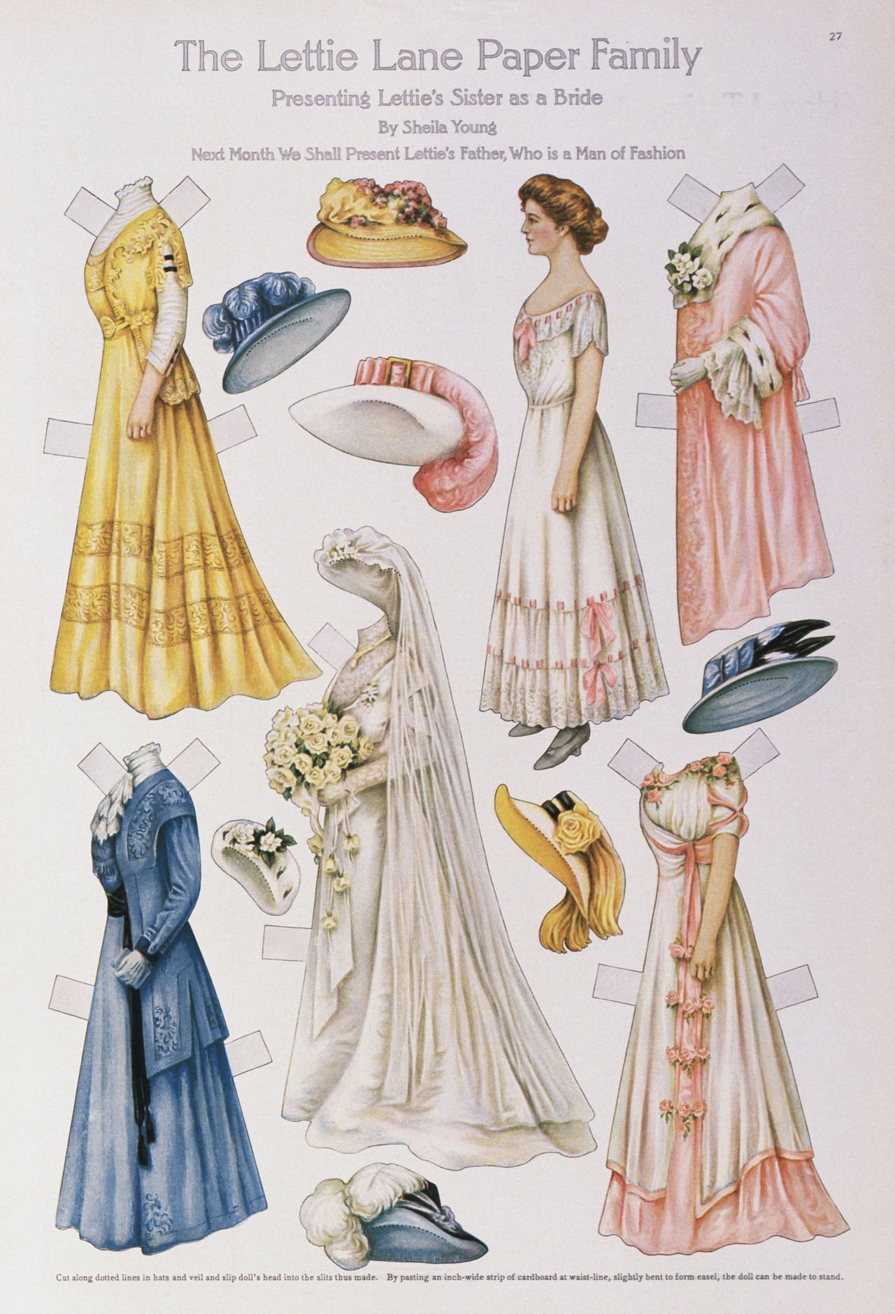 1909 --- Fashion Paper Dolls: Bridal Trousseau --- Image by © Cynthia Hart Designer/CORBIS