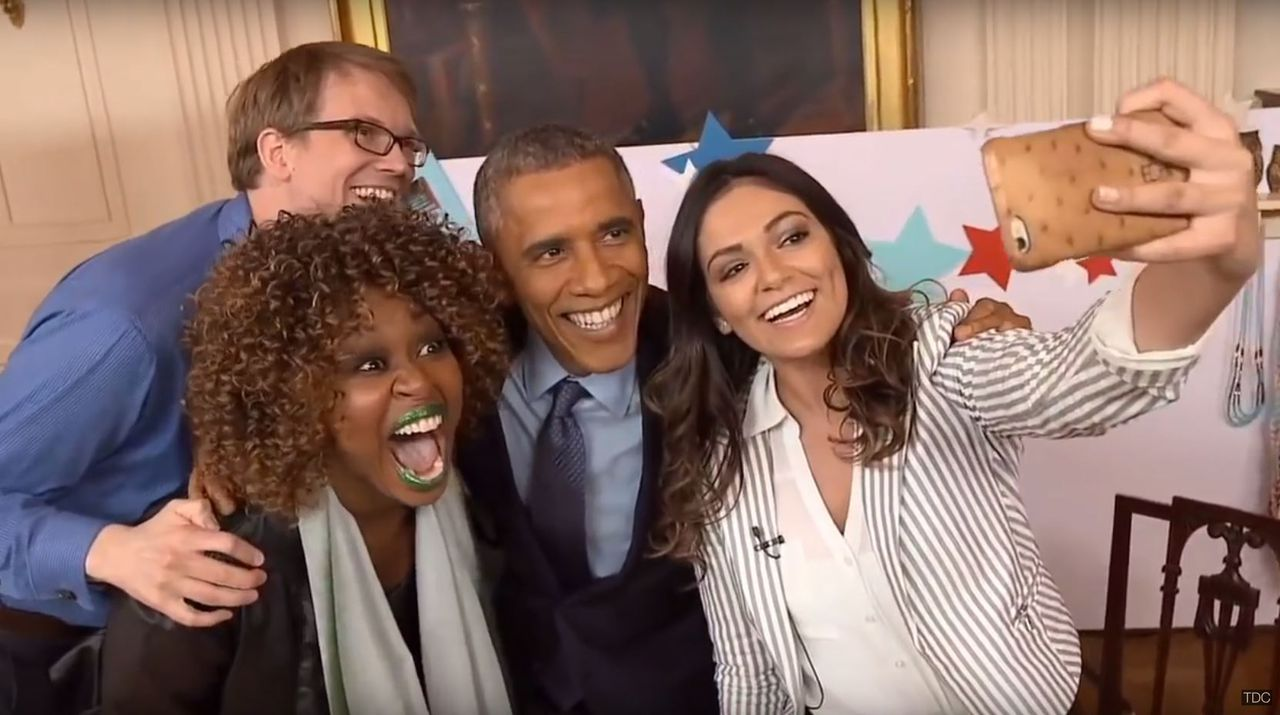 Obama na zijn YouTube-interview van 2015.