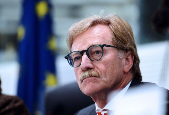 This photo taken on October 22, 2012, shows the governor of the Central Bank of Luxembourg Yves Mersch during a hearing at the Committee of Economic and Monetary Affairs of the European Parliament regarding his candidacy for a seat on the ECB's executive board, in Strasbourg, eastern France. European lawmakers snubbed the bloc's top leadership Thursday, voting down the appointment of Luxembourg's Yves Mersch to a key European Central Bank post in protest at a lack of women candidates for the job. The narrow vote came after a series of exchanges over the representation of women at the top levels in European political and business institutions but it counts as a protest only since EU leaders can override parliament in this case. AFP PHOTO / PATRICK HERTZOG