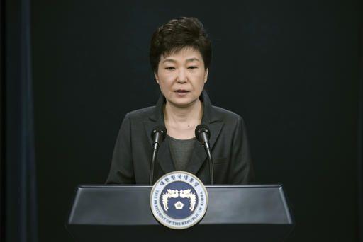 De Zuid-Koreaanse presidente beantwoordde na afloop van haar toespraak geen vragen.