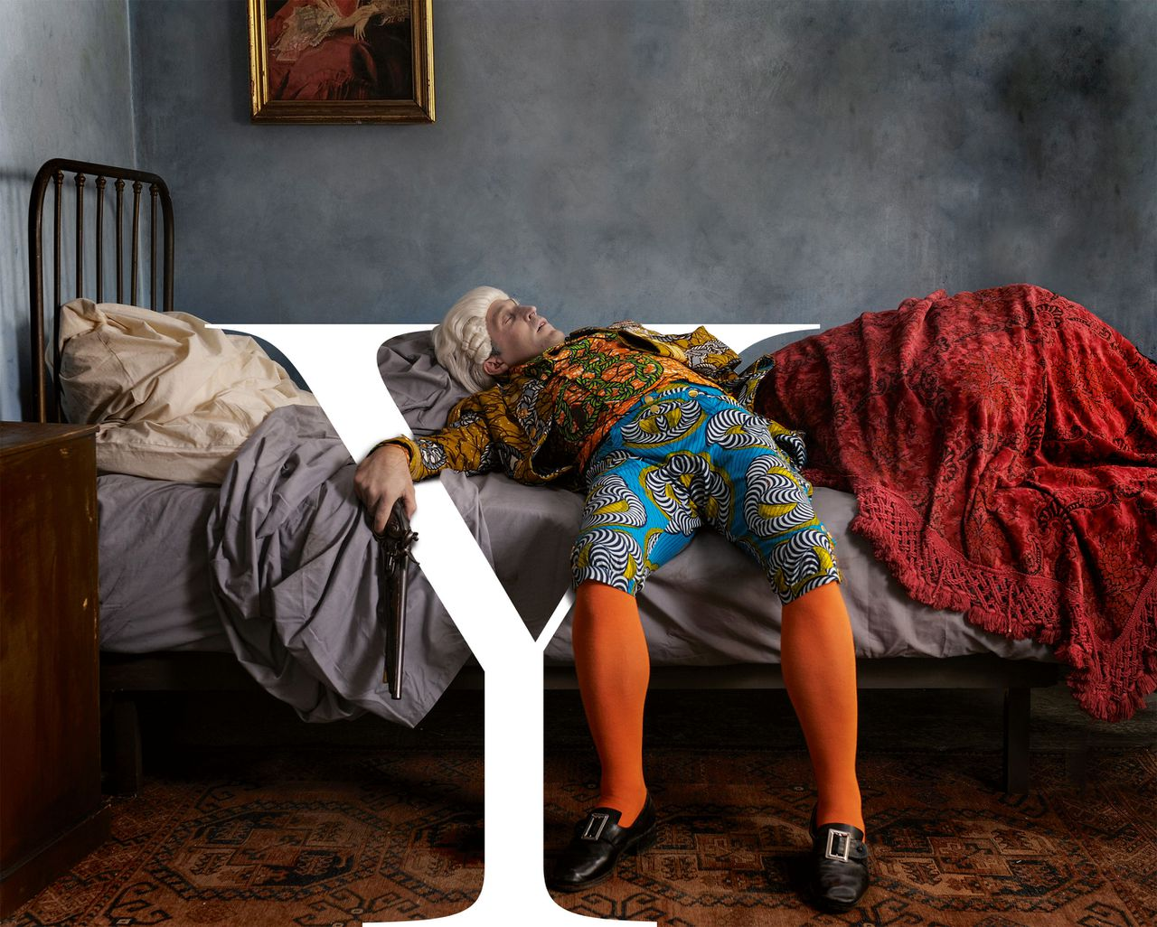 Yinka Shonibare MBE, Fake Death Picture (The Suicide - Manet), 2011