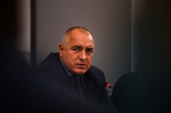 Bulgarian Prime Minister Boyko Borisov gives a press conference in Sofia on February 19, 2013. Bulgaria will revoke the electricity distribution license from Czech power utility CEZ amid nationwide protests against high electricity bills, Prime Minister Boyko Borisov said on Tuesday. AFP PHOTO / DIMITAR DILKOFF