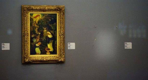 De plek waar de gestolen Matisse hing, de ochtend na de roof.