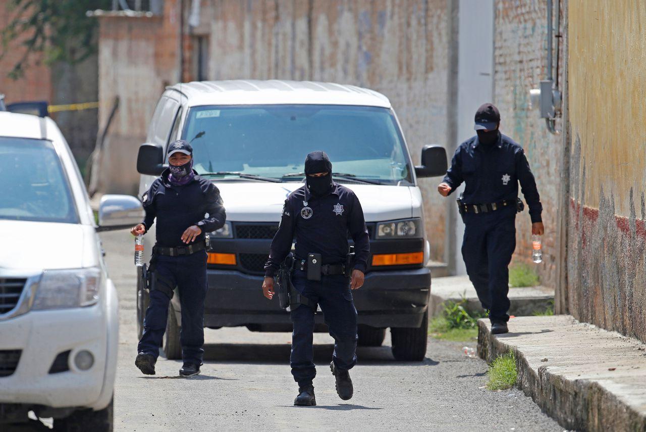 De politie in juli in de Mexicaanse staat Jalisco.