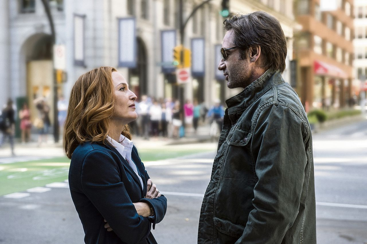 Het weerzien van Scully en Mulder in de revival van The X-Files.
