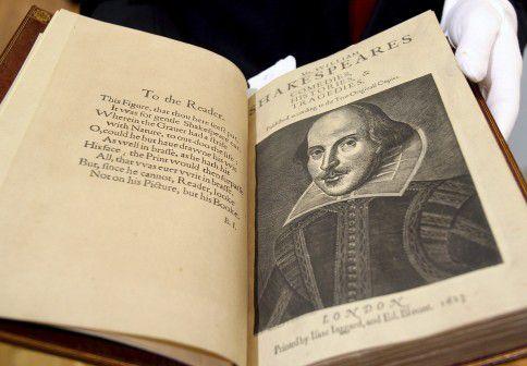 Folio-editie van de toneelwerken van Shakespeare.