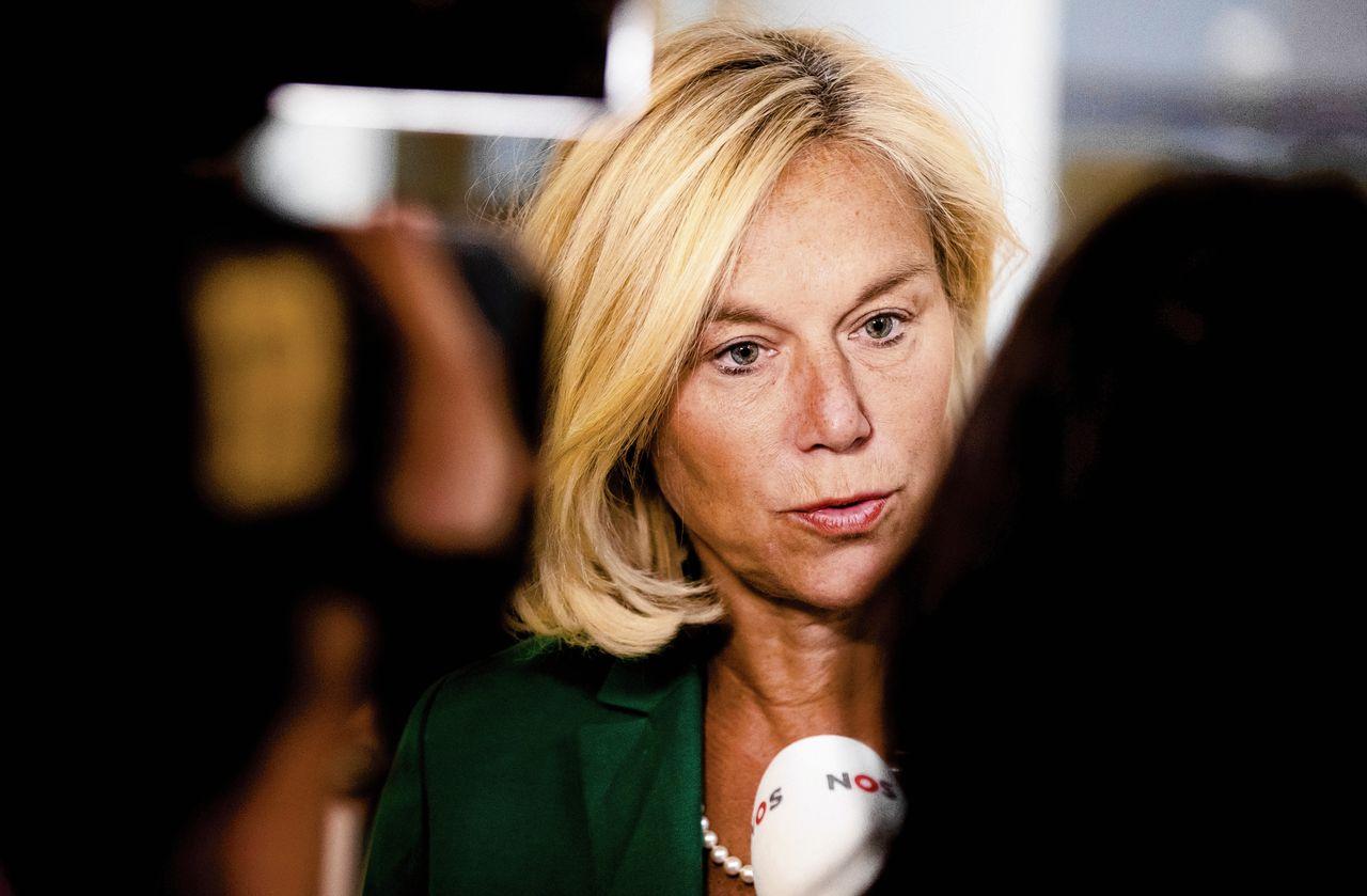 In haar speech viel Sigrid Kaag zaterdag de andere premier-in-spe Hoekstra aan zonder hem bij naam te noemen.