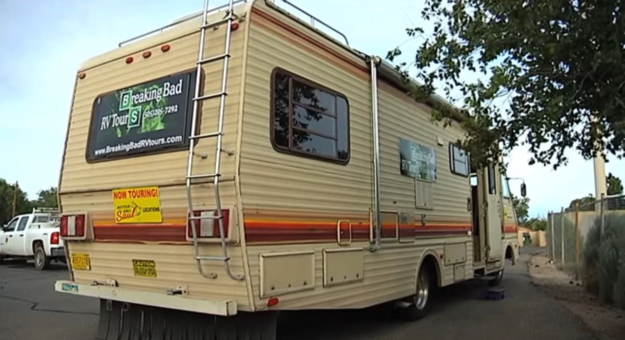 De bus van Breaking Bad RV Tours in Albuquerque (New Mexico)