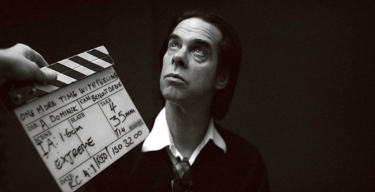 Nick Cave tijdens de opnames van One More Time With Feeling.