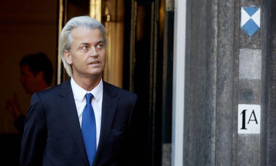 PVV-leider Geert Wilders op het Binnenhof.