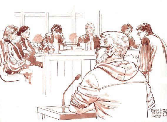 Benno L. in de rechtbank van Den Bosch in 2009.