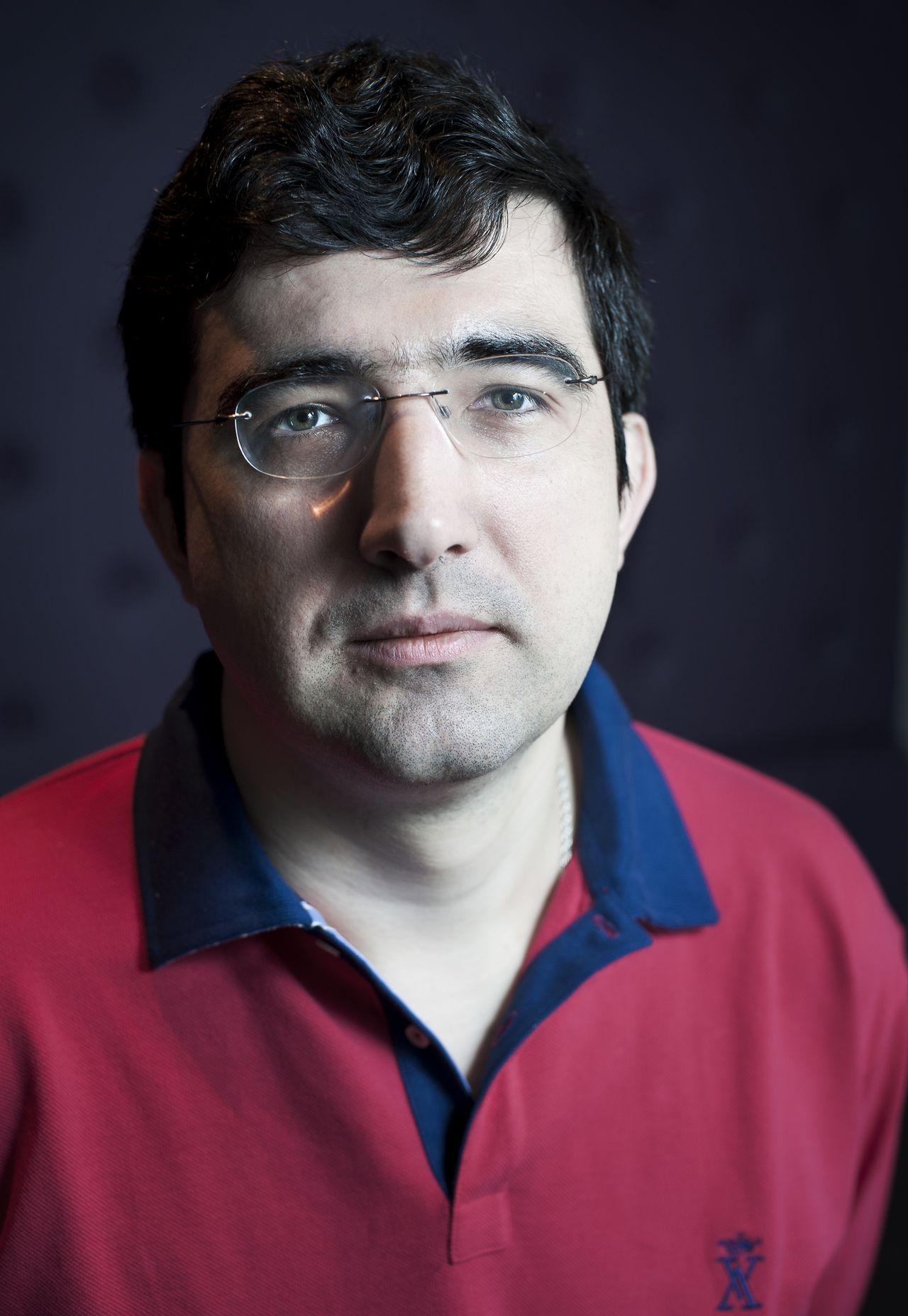 Nederland, Wijk aan Zee, 14-01-2010 Schaker Vladimir Kramnik is kanshebber voor de overwinning tijdens het Tata Steel Schaaktournooi. foto: Bram Budel