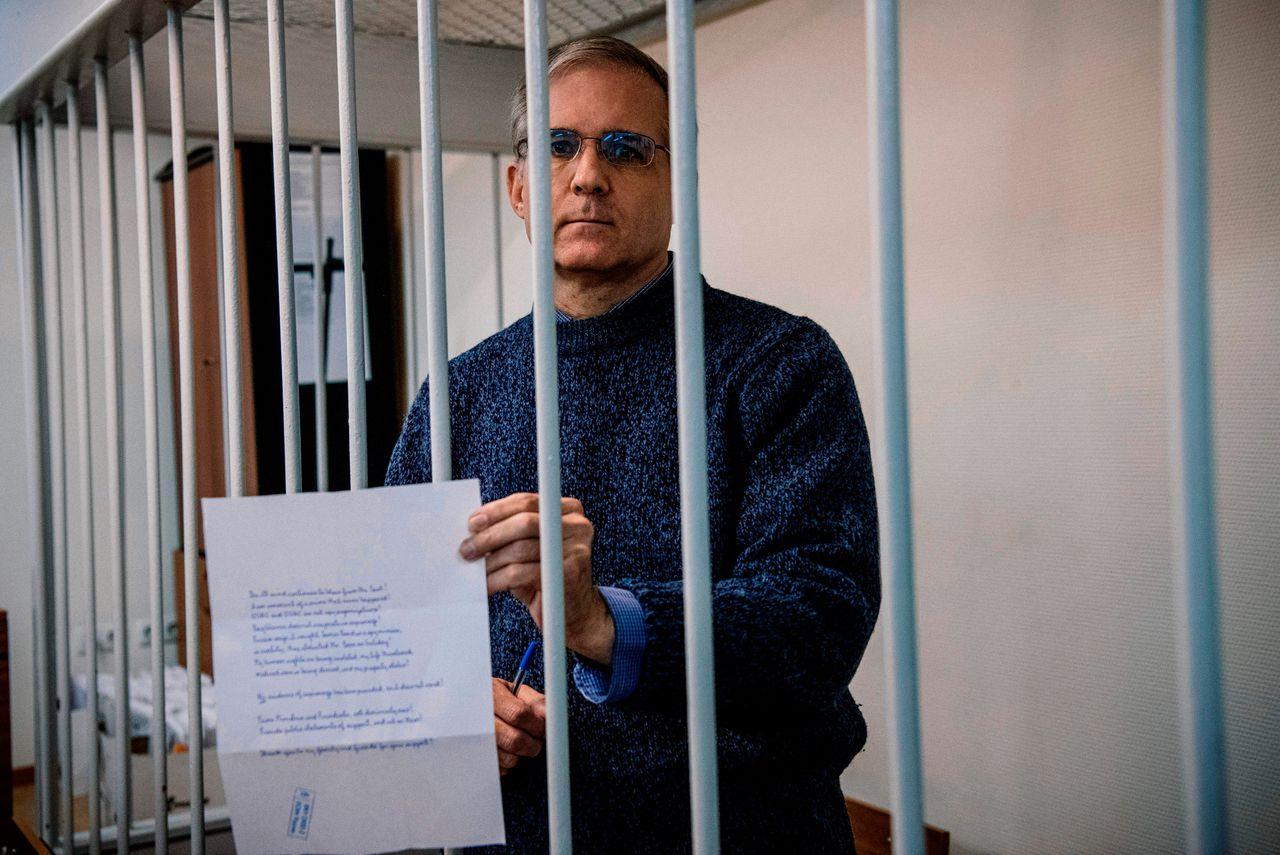 De van spionage verdachte Paul Whelan op 24 oktober 2019, in voorarrest in Moskou.