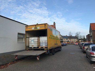 De gevonden vrachtwagen in Kaatsheuvel.