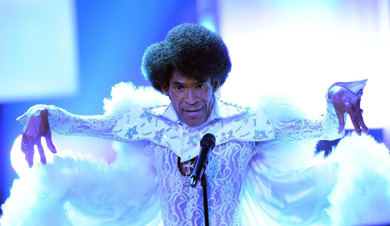 FILES - Picture taken on May 4, 2009 shows Bobby Farrell, singer and dancer with 1970's disco group Boney M, performing during a tv show in Huerth near Cologne, western Germany. Farrell died early December 30, 2010 in a hotel room in Saint Petersburg, where he had been performing, city officials said. He was 61. AFP PHOTO JOERG CARSTENSEN GERMANY OUT