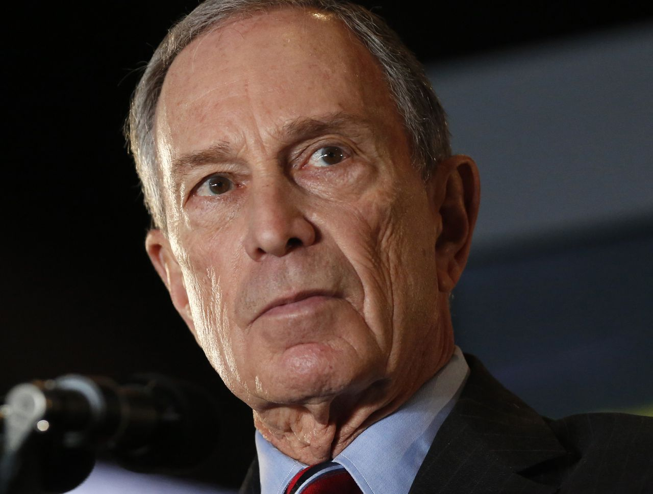 New York City Mayor Michael Bloomberg speaks during his final State of the City speech at the Barclay's Center in Brooklyn, New York, February 14, 2013. Bloomberg proposed a ban on Styrofoam, the substance commonly used for take-out food containers that is almost impossible to recycle. REUTERS/Brendan McDermid (UNITED STATES - Tags: POLITICS)