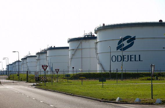 Tankopslagbedrijf Odfjell in Rotterdam.
