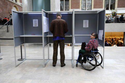 Stemmen in het Rijksmuseum.