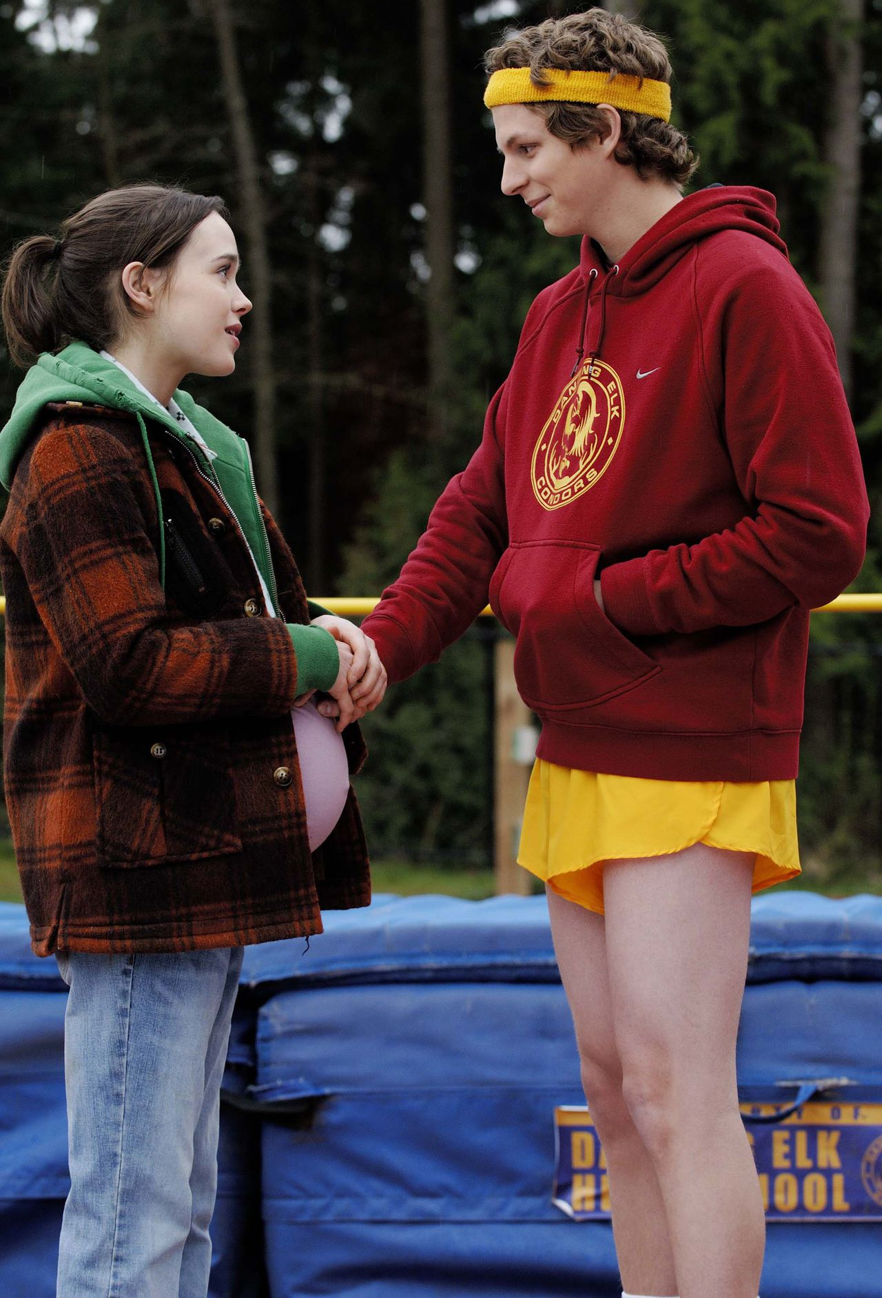 """Openingsfilm Juno Foto AP This image released by Fox Searchlight shows a scene from """"Juno"""" with Ellen Page, left, and Michael Cera. (AP Photo/Fox Searchlight, Doane Gregory)"""