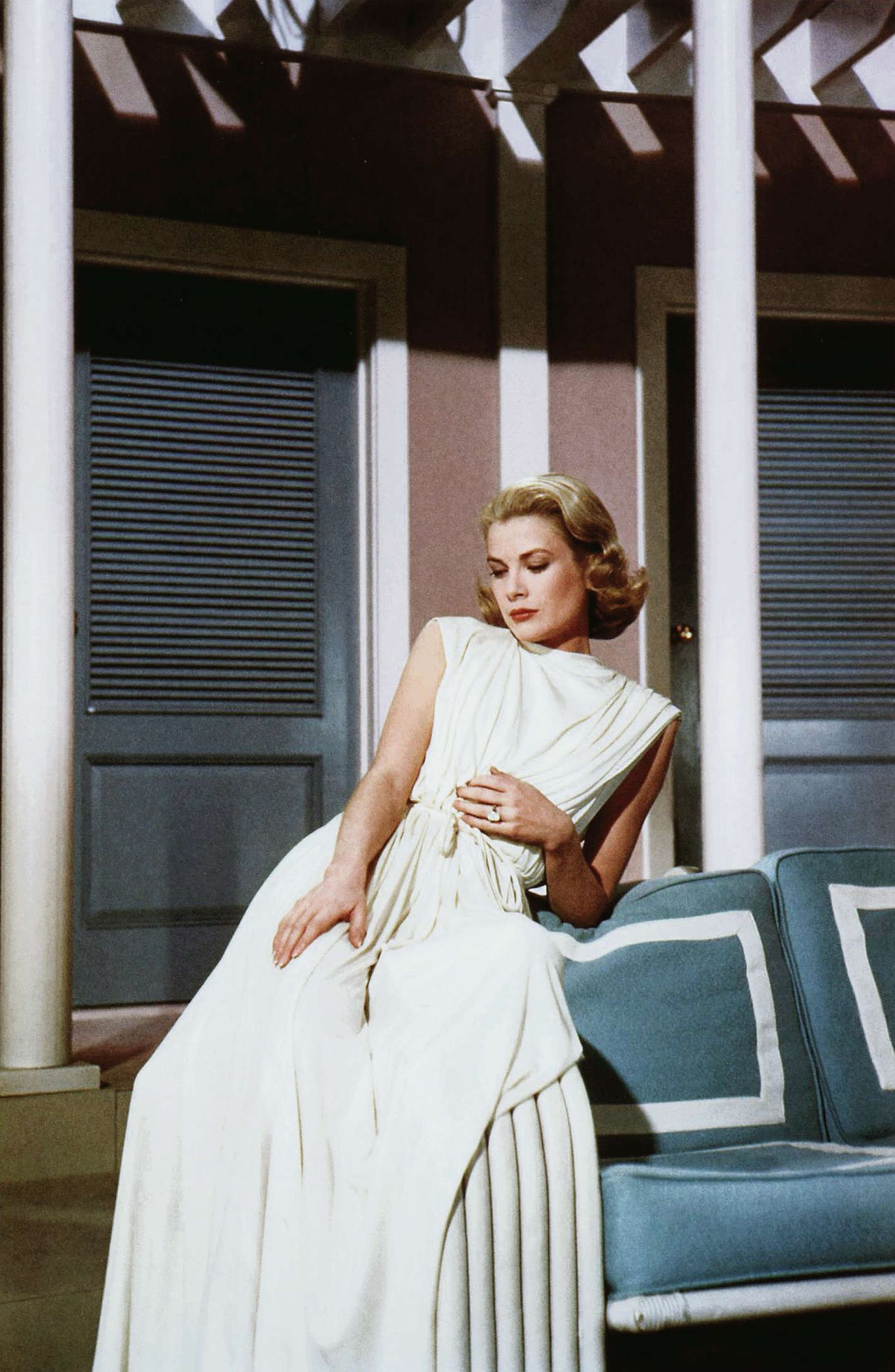 Grace Kelly op de set vanHigh Society, 1965.