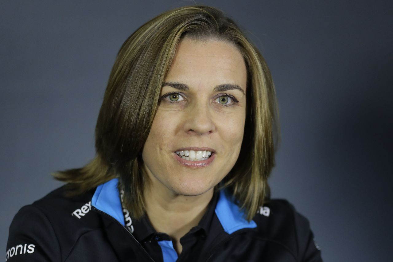Claire Williams in april vorig jaar.
