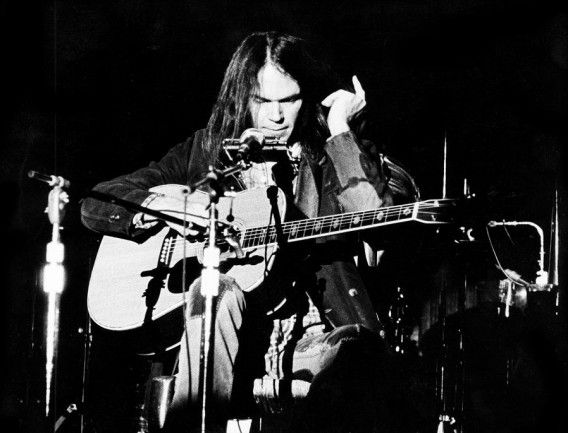 Neil Young in 1976.