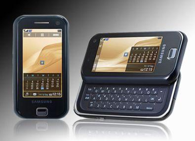 """NRC.NL/BLOGS Alleskunners. Redacteur Marc Hijink blogt over mobiele alleskunners. """"Het blijft nog even gsm-nieuws regenen, nu de grote fabrikanten van telefoons in Barcelona verzameld zijn om hun nieuwe producten wereldkundig te maken. Vooral grote alleskunners zijn intrek: telefoons die in feite als minicomputer door het leven gaan. Samsung lanceert een opvallende smartphone, de F700, met een uitschuifbaar toetsenbord en een touchscreen. Het toestel vertoont sterke gelijkenis met de HTC TyTn-serie: een uit de kluiten gewassen pda waarmee je kunt bellen, volwaardig internetten en op een luxe scherm van multimedia genieten. De overdwars-formfactor lijkt een exacte kopie van de TyTn."""" Bekijk andere mobiele alleskunners die gepresenteerd worden op: www.nrc.nl/hebben Smartphone"""