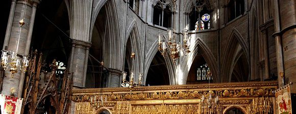 igh Alter inside Westminster Abbey while touring the church in London, May 24, 2011.
