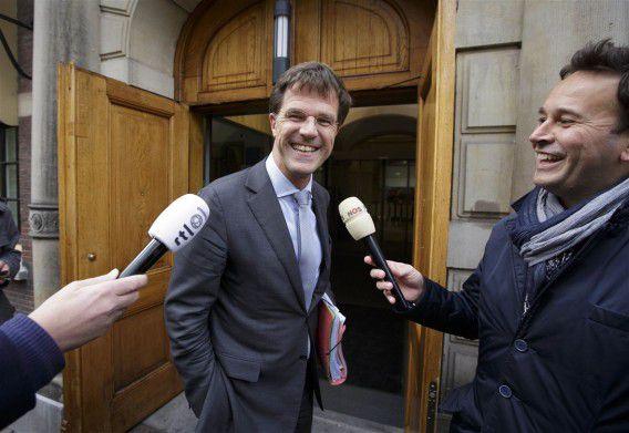 Naarmate de eindfase van de formatie nadert, komen er steeds meer maatregelen naar buiten. Maar VVD-leider Mark Rutte weigert op het nieuws in te gaan. Foto ANP / Phil Nijhuis