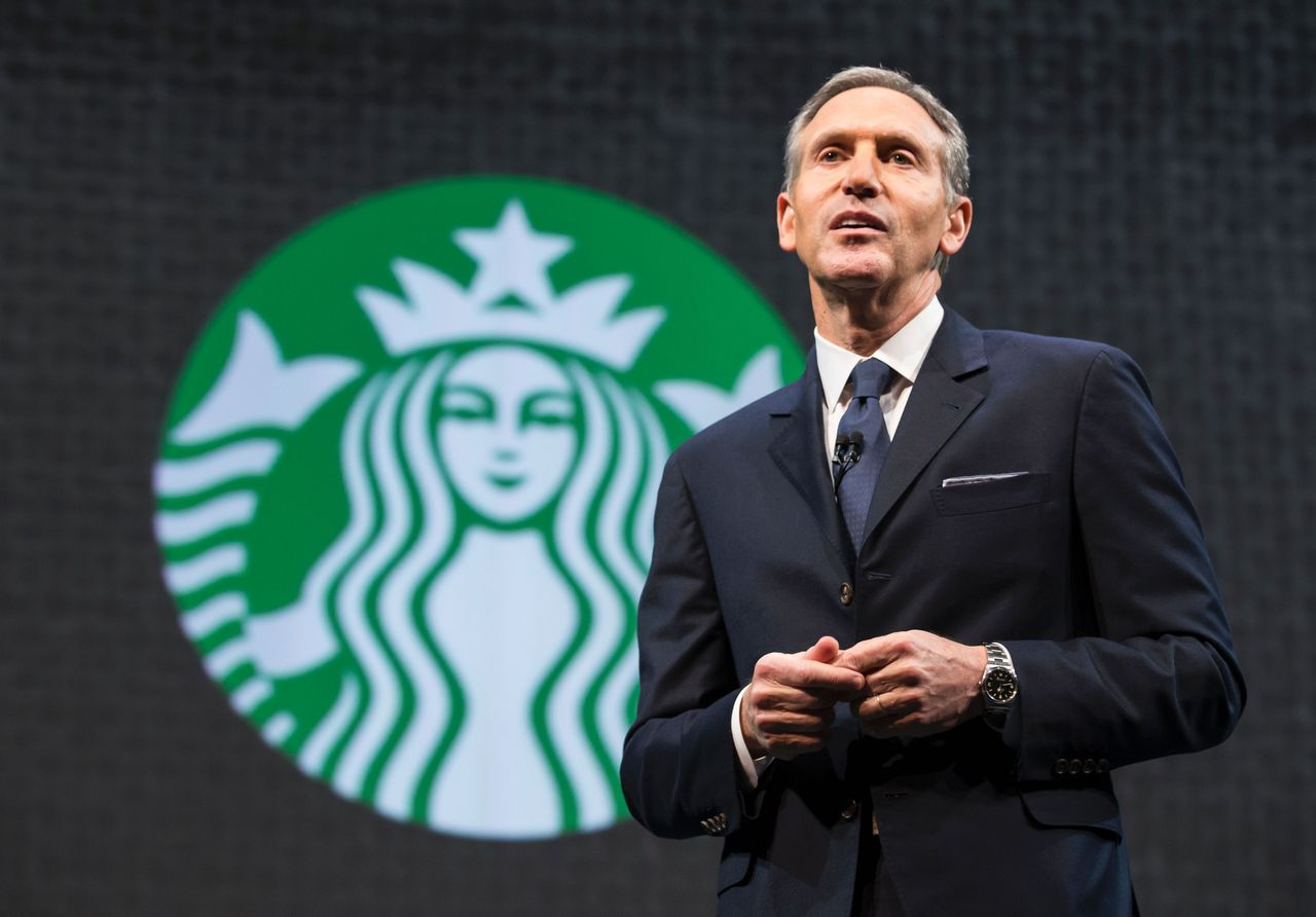 Howard Schultz, de topman van Starbucks.