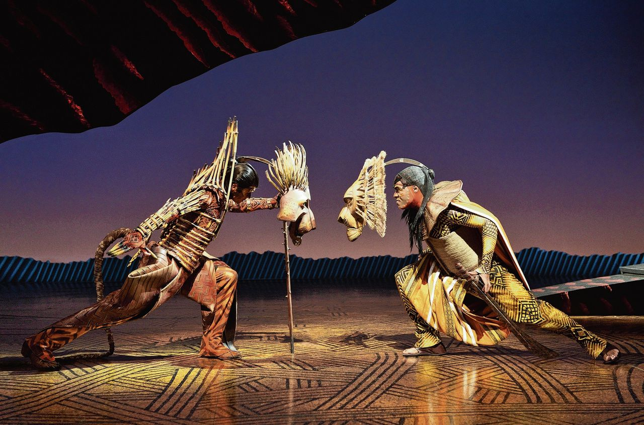 Theatermusical The Lion King in het AFAS Circustheater Scheveningen. Foto Deen van Meer.