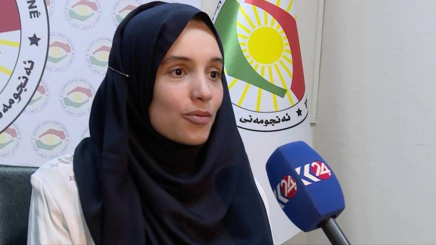 Hansen tijdens een interview met Kurdistan 24