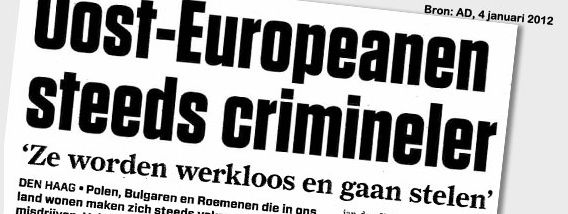 Screenshot van het PVV-initiatief Meldpunt Midden en Oost-Europeanen.