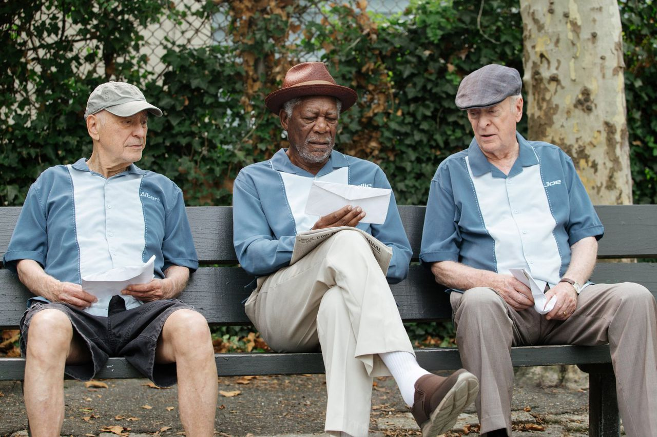 Alan Arkin, Morgan Freeman en Michael Caine in Going in Style.