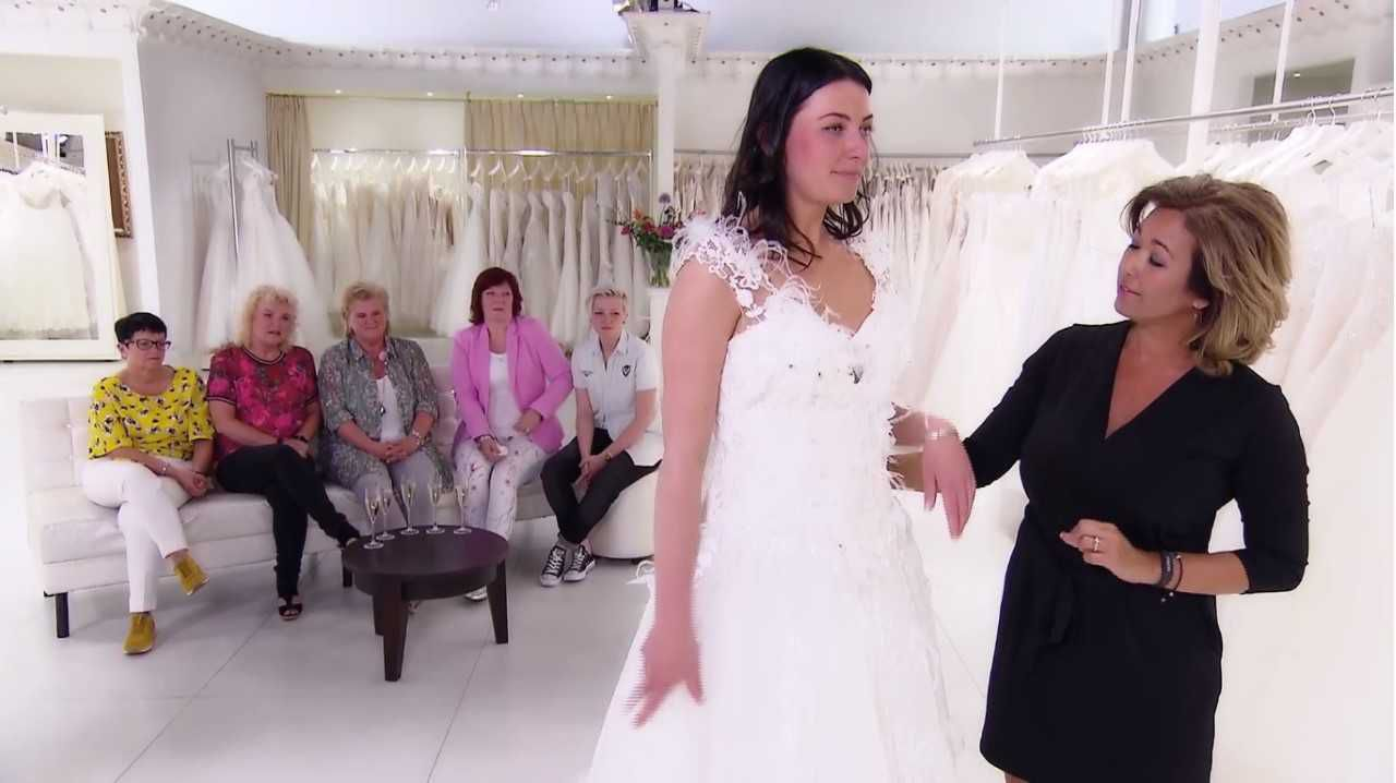 De Rotterdamse bruid Bo in Say Yes to the Dress (TLC).