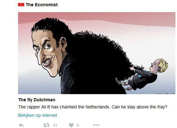 De cartoon bij de longread over Ali B.