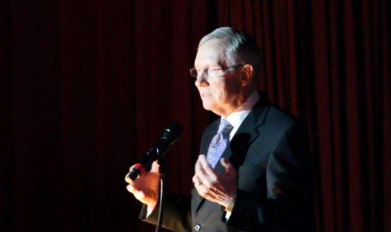 Harry Reid op de bijeenkomst in Las Vegas.